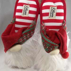 Dluxe By Dearfoams Slippers Ugly Christmas Gnome